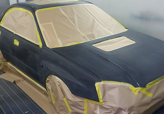 spray paint job